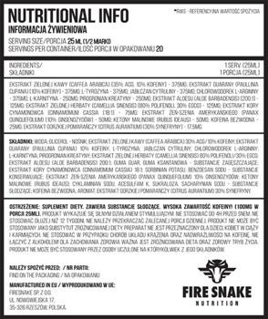 FireSnake Onyx Liquid (Fat Burner) 500 ml.